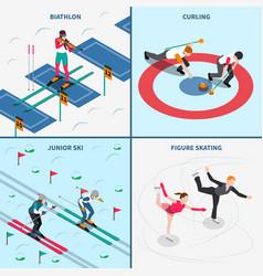 winter olympics design concept vector image