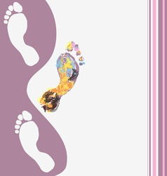 abstract footprints background vector image vector image