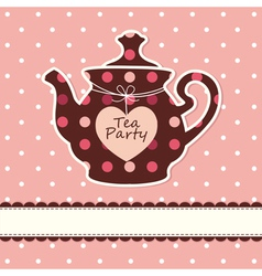 Card with teapot vector image vector image