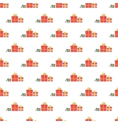 Gift boxes pattern seamless vector image