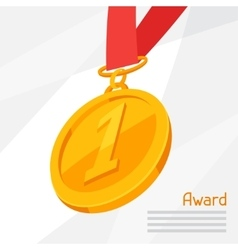 gold medal award on abstract vector image vector image