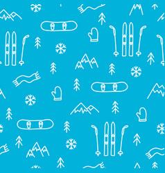mountain skiing or snowboarding concept seamless vector image vector image