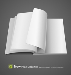 Open white page magazine vector image vector image