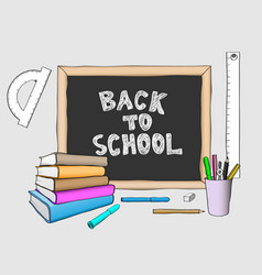 Back to school handdrawing colored vector