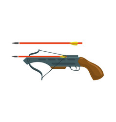 crossbow with arrow vector image vector image