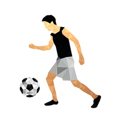 Origami football player vector