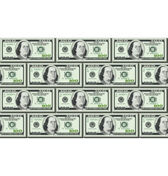 Wall build from dollars packs vector image