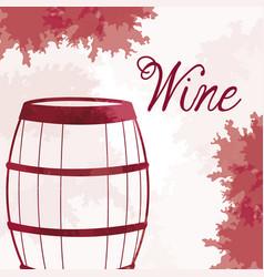 wine barrel wooden vintage image vector image vector image