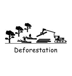 1335 deforestation vector image
