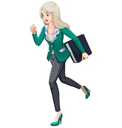 A busy businesswoman vector image