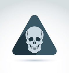 a human skull in a triangle Dead head ab vector image