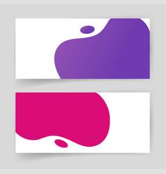 abstract shapes element design liquid fluid vector image