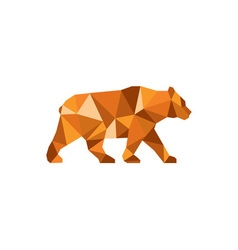 American Black Bear Side Low Polygon vector image
