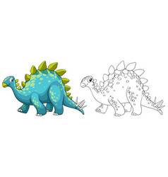 animal outline for dinosaur vector image
