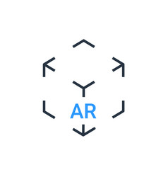 Ar reality symbol icon virtual augmented vector