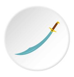 Arabian scimitar sword icon circle vector