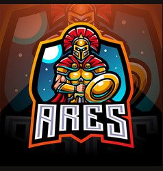 Ares esport mascot logo design vector