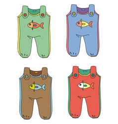 Baby Jumpsuits vector
