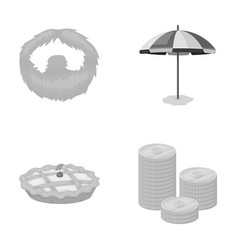 Beauty food and other monochrome icon in cartoon vector