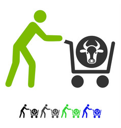 Beef purchase flat icon vector