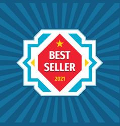 best seller 2021 geometric badge design cobcept vector image