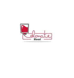 blood donation linear logo template vector image