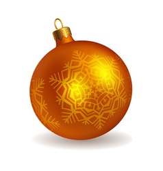 bright christmas ball vector image