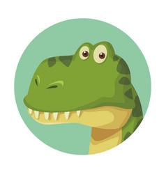 brontosaurus dinosaur cartoon vector image