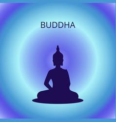 buddha silhouette meditation vector image