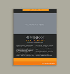 business brochure template in yellow and black vector image vector image