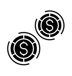 casino - board games icon vector image