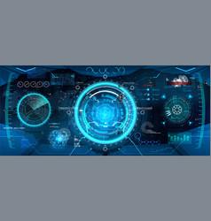 cockpit helmet futuristic vr vector image
