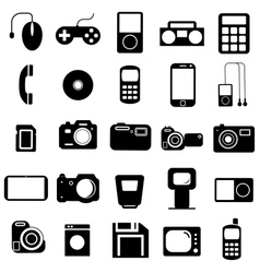 Collection flat icons Multimedia symbols vector image