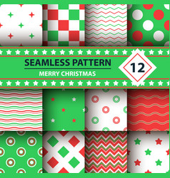Color simple shape merry christmas pattern vector