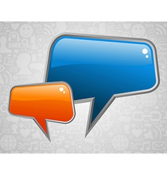 Contemporary social media bubbles vector