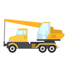 crane truck icon flat style vector image