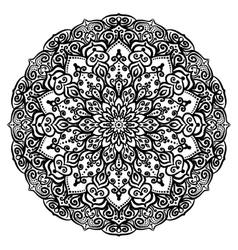 Curly flower coloring page vector