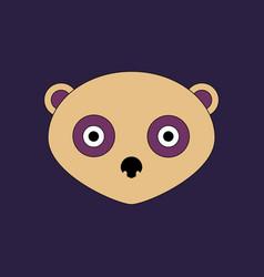 cute panda face icon vector image