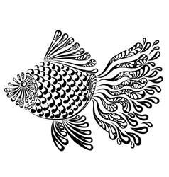 Decorative image of a fantastic fishnet fish vector