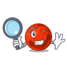 Detective mars planet character cartoon vector