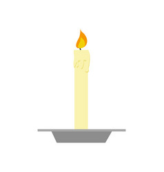 Dinner table candle light vector