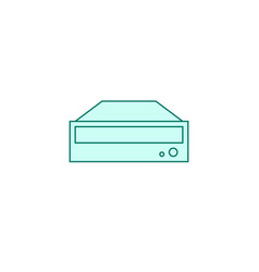 dvd rom icon filled outline or line style vector image