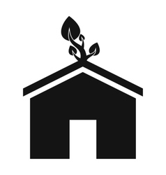 Eco house simple icon vector image