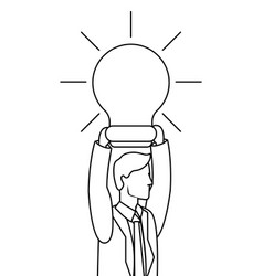 executive businessman avatar in black and white vector image