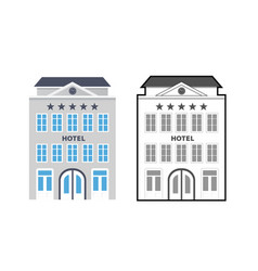flat style hotels as a star rating concept vector image