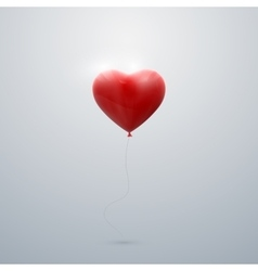 Flying red balloon heart vector