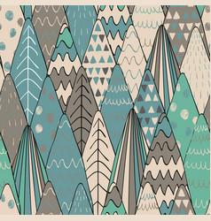 Forest seamless pattern background scandinavian vector
