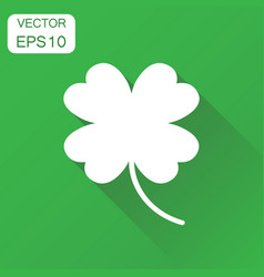 Four leaf clover icon business concept lover vector