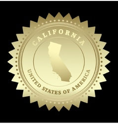 Gold star label California vector