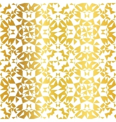 Golden On White Abstract Kaleidoscope vector image